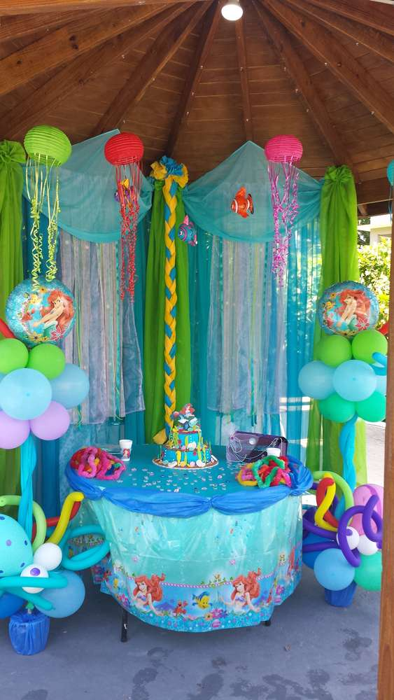 little mermaid birthday party ideas photo 4 of 13