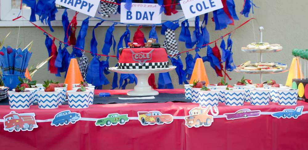 Cars Lightning McQueen Birthday Party Ideas Photo 2 of 31 Catch