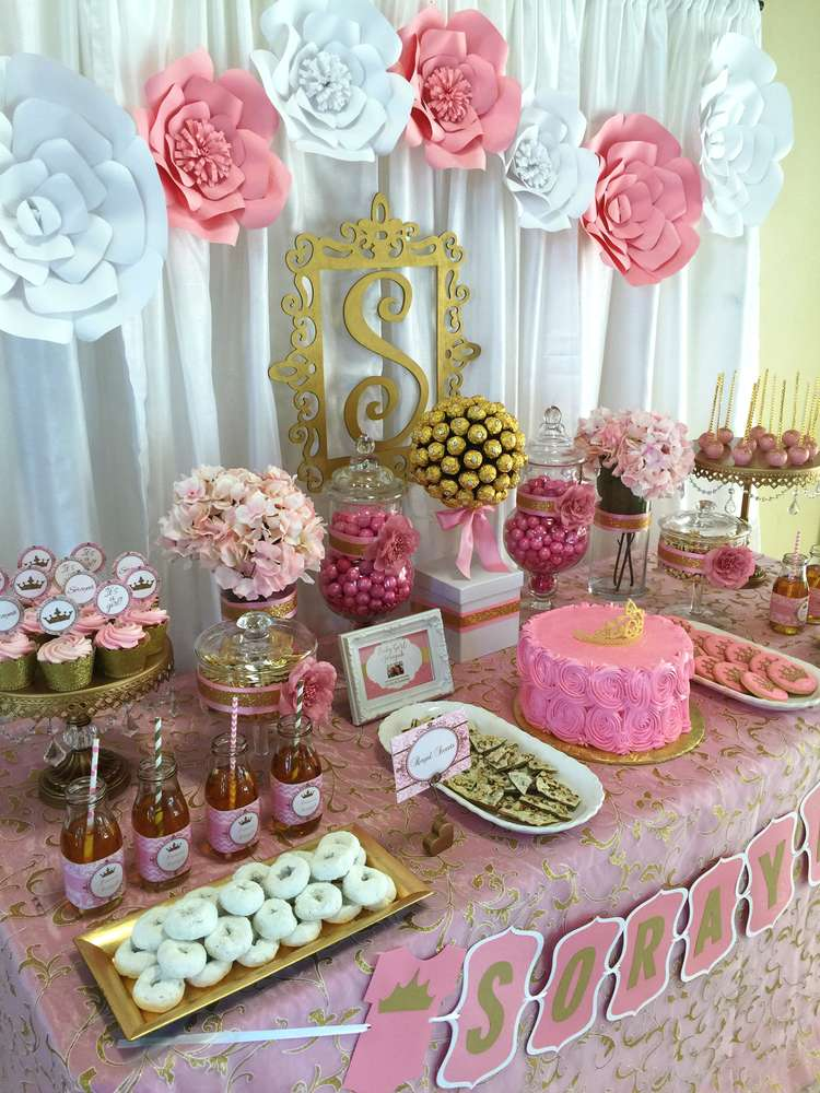 Pink And Gold Baby Shower Baby Shower Party Ideas Photo 3 Of 7