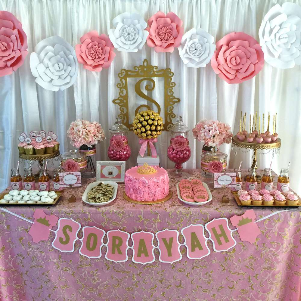 Pink And Gold Baby Shower Baby Shower Party Ideas Photo 1 Of 7