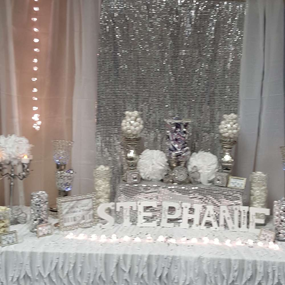 All white party birthday party ideas photo 3 of 9 for All white party decoration