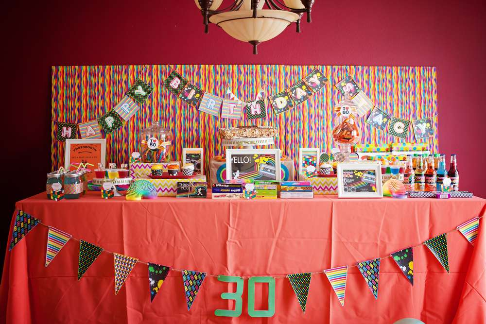 1980s Birthday Party Ideas