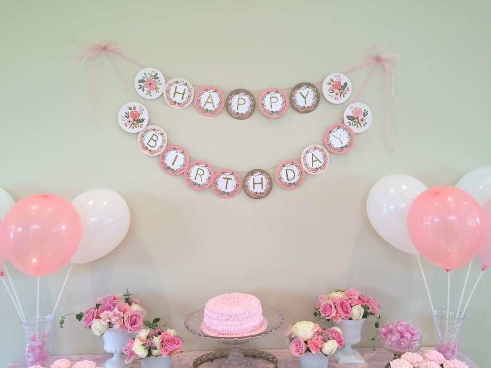 Pretty In Pink Birthday Party Ideas Photo 19 Of 30 Catch My Party