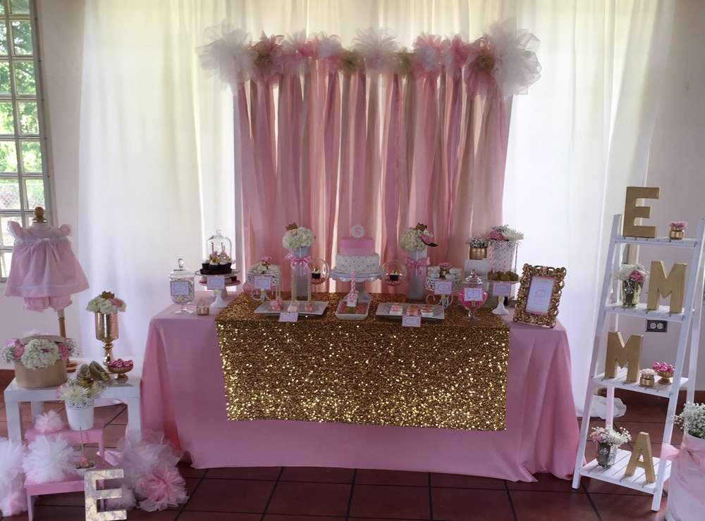 Pink And Gold Baby Shower Baby Shower Party Ideas Photo 16 Of 20