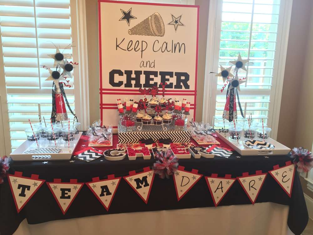 Cheerleading Cheer Party Party Ideas Photo 2 Of 12