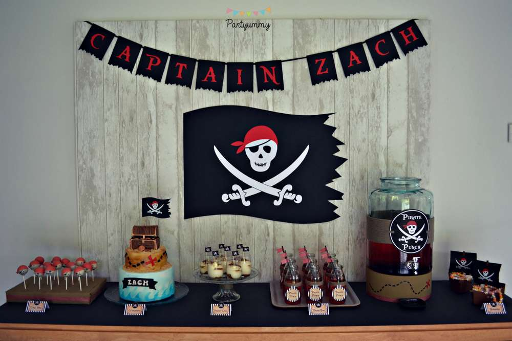 Pirates birthday party ideas photo 1 of 18 catch my party - Deco table anniversaire enfant ...