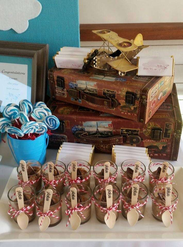 Vintage Plane Baby Shower Party Ideas Photo 1 Of 13