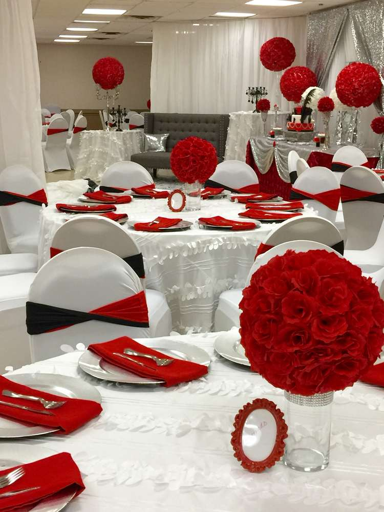 Red roses birthday party ideas photo of catch my