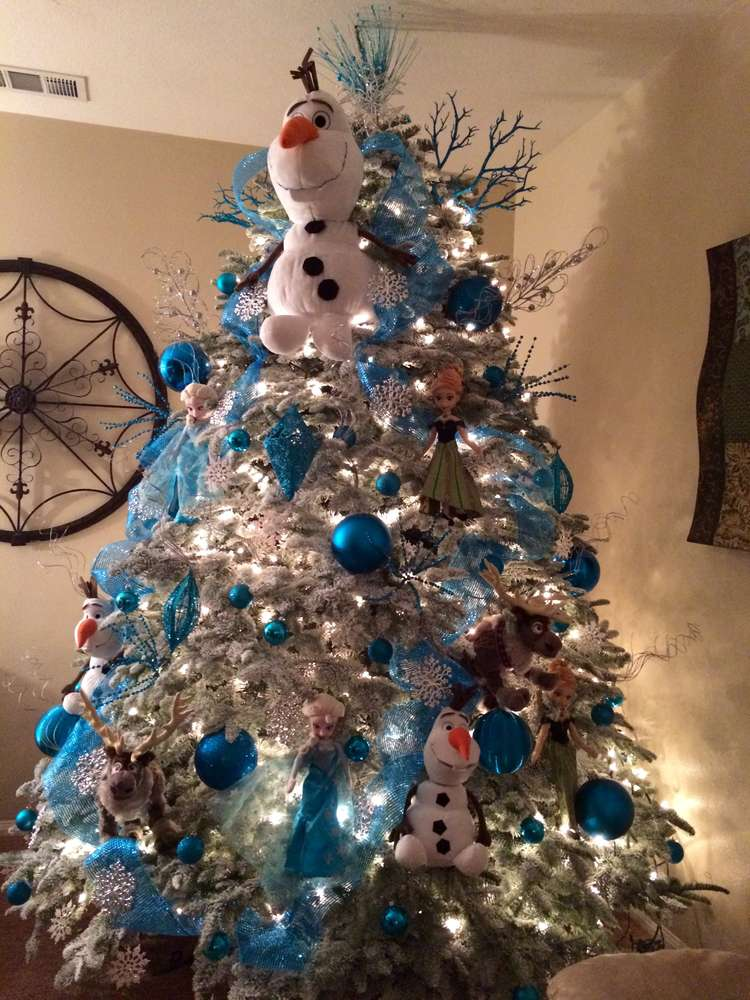 Disney S Frozen Inspired Christmas Tree Christmas Holiday