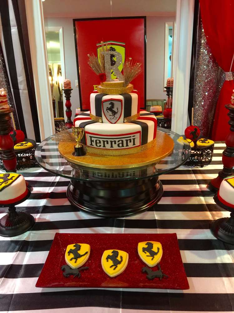 Ferrari Birthday Party Ideas Photo 2 Of 14 Catch My Party