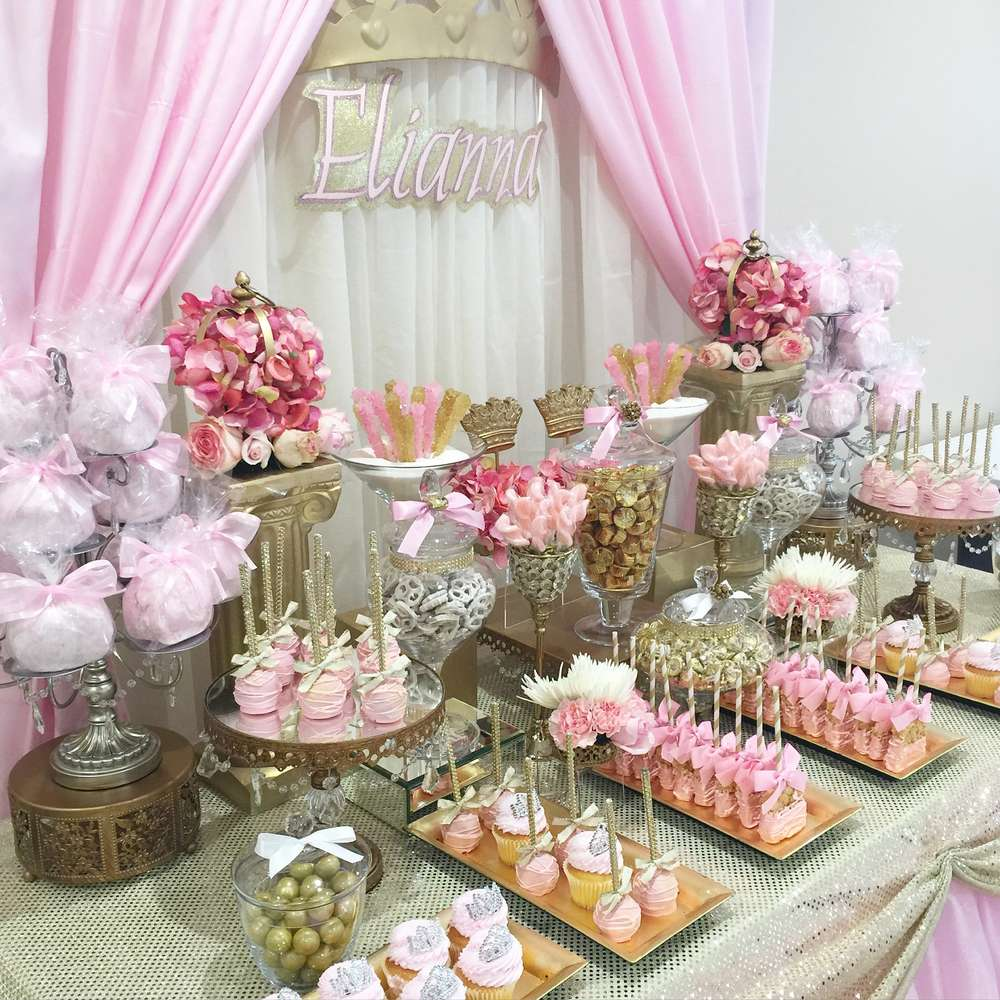 Princess baby shower party ideas photo 2 of 6 catch my for Baby shower party decoration