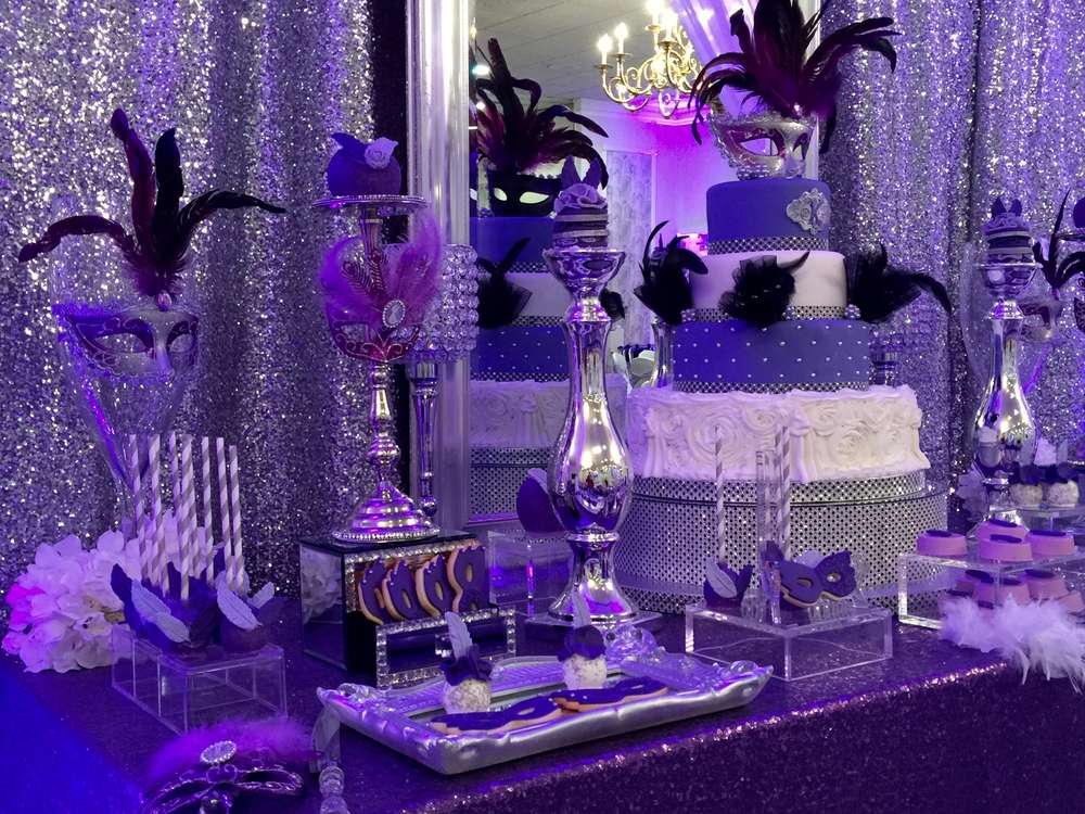 Masquerade Quinceañera Party Ideas | Photo 3 of 21 | Catch ...