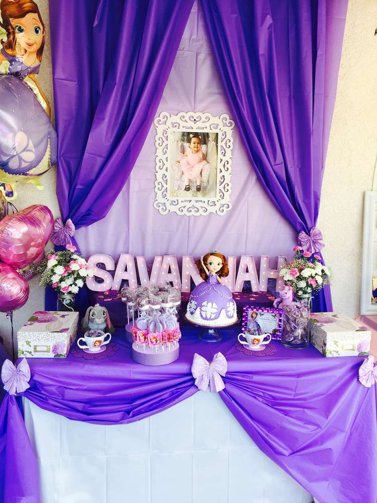 Sofia The First Birthday Party Ideas Photo 3 Of 10 Catch My Party