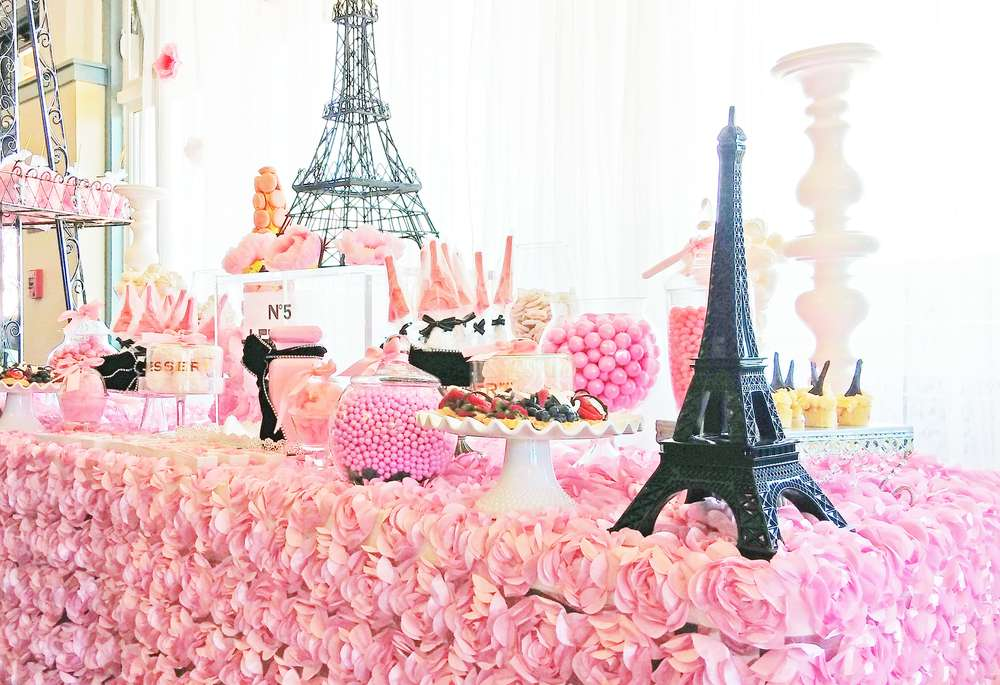 French parisian bridalwedding shower party ideas photo 2 of 16 paris theme bridal shower junglespirit Image collections