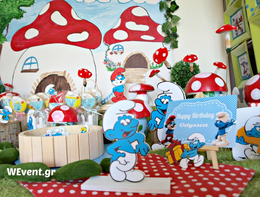 Smurf Birthday Cake Images