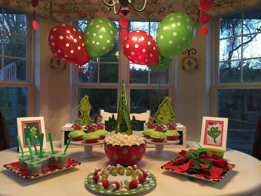 Christmas Birthday Party Ideas Part - 37: Georgiau0027s Grinchmas Party