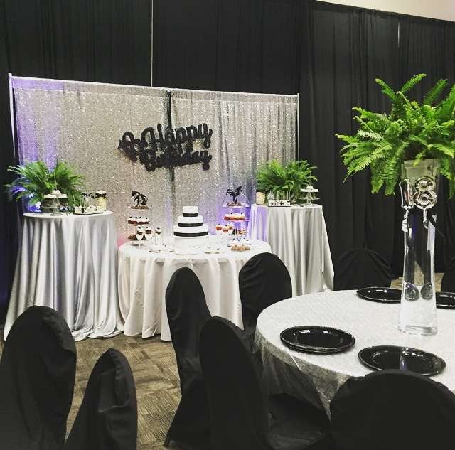 Silver And Black Birthday Party Ideas