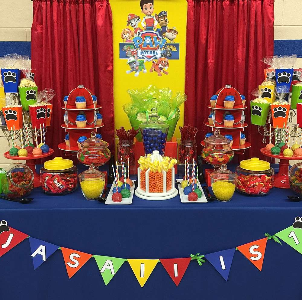 Paw patrol birthday party ideas photo 1 of 11 catch my - Todo para fiestas de cumpleanos infantiles ...