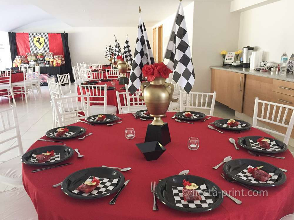 Ferrari Racing Cars Birthday Party Ideas Photo 2 Of 28