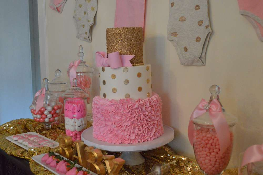 pink and gold baby shower - 1000×665