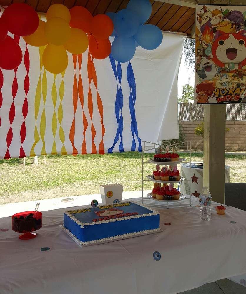 yo kai watch party birthday party ideas photo 1 of 12