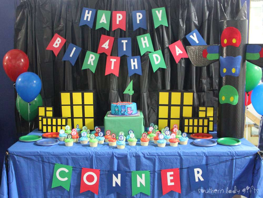 Conners PJ Masks 4th Birthday