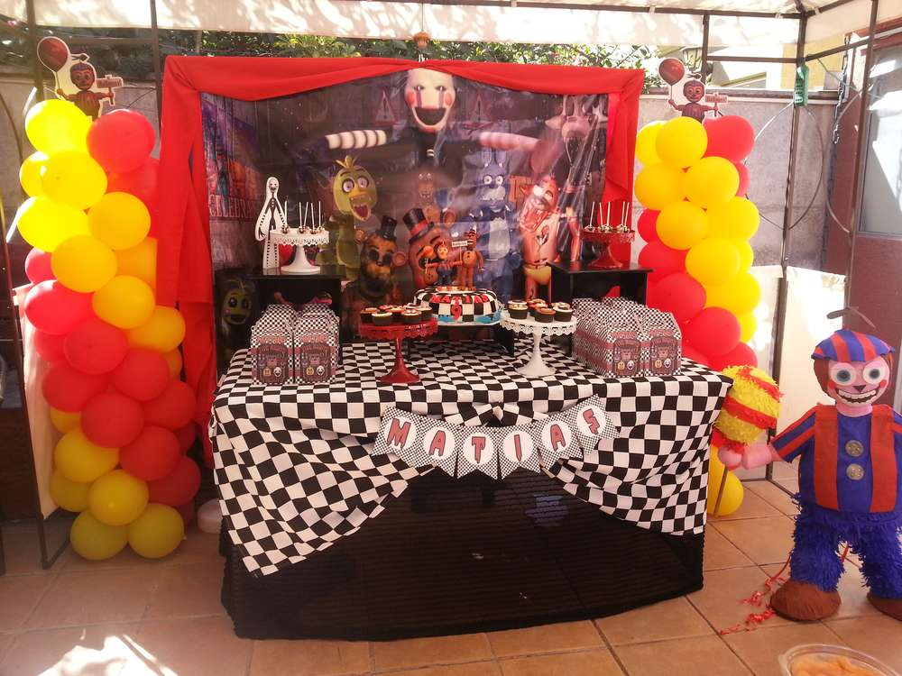 Five nights at freddy s birthday party ideas photo 1 of 13 catch my party - S party theme decorations ...