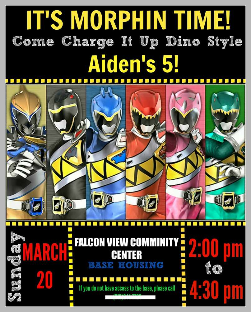 Power Rangers Dino Charge Birthday Party Ideas – Power Rangers Party Invitations