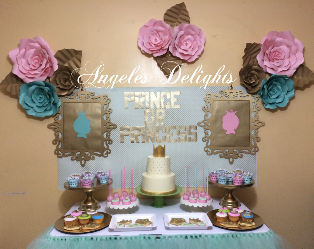 Prince or princess gender reveal party ideas photo 2 of for Baby decoration games