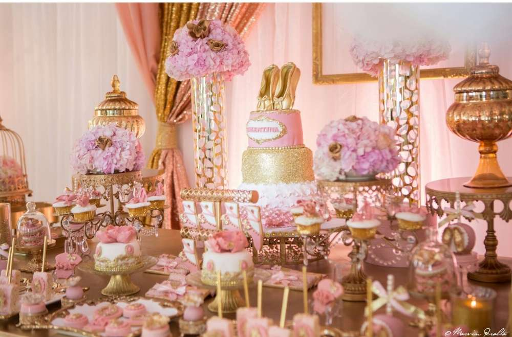 pink and gold baby shower - 1000×659