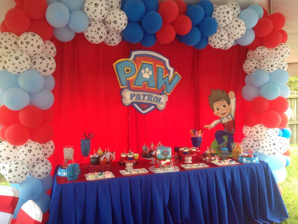 Paw Patrol Theme 1st Bday Party