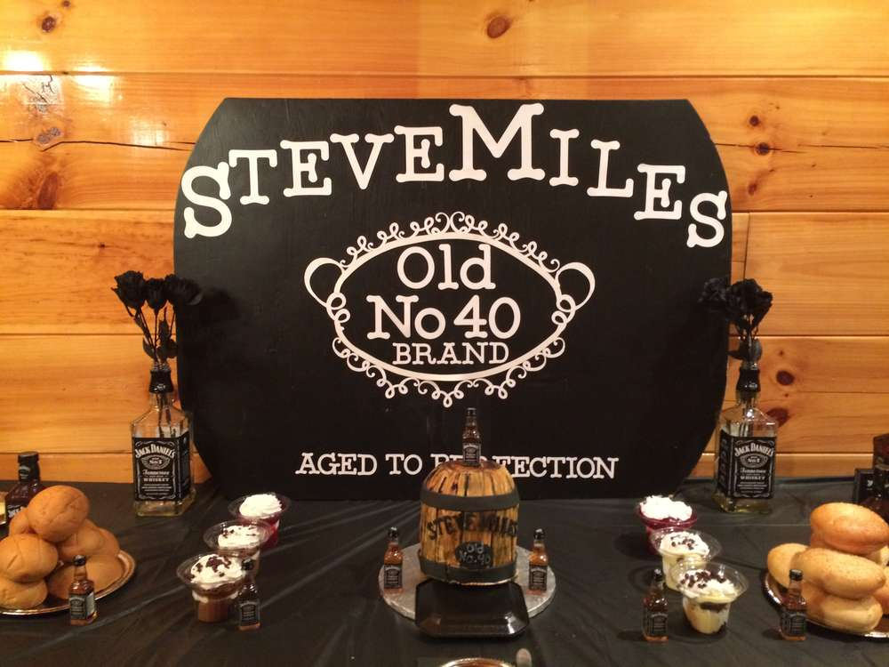 40th Birthday Jack Daniels Aged To Perfection Birthday Party Ideas