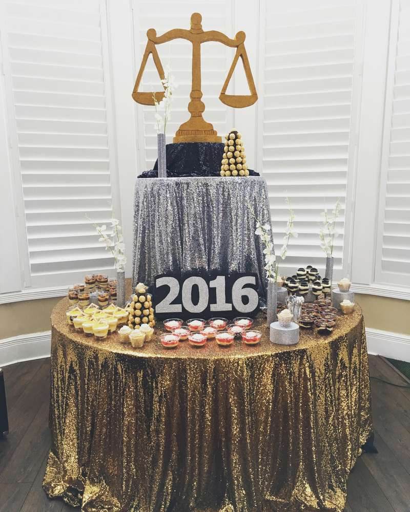 Graduation Party Ideas: Gold Silver And Black Graduation/End Of School Party Ideas