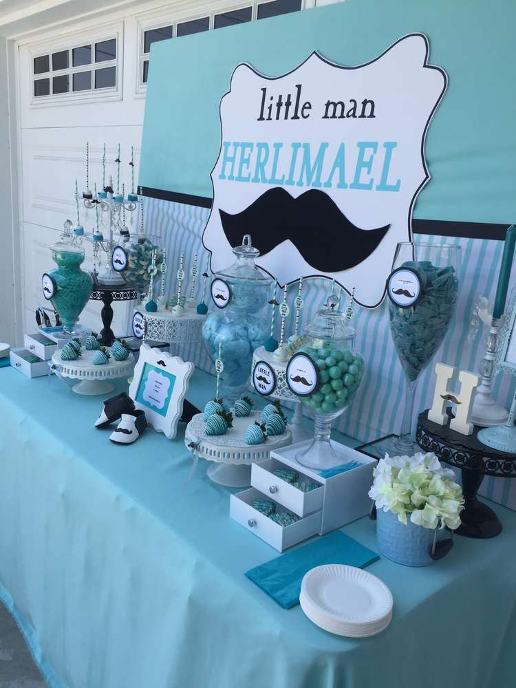 mustache baby shower baby shower party ideas photo 9 of 10 catch