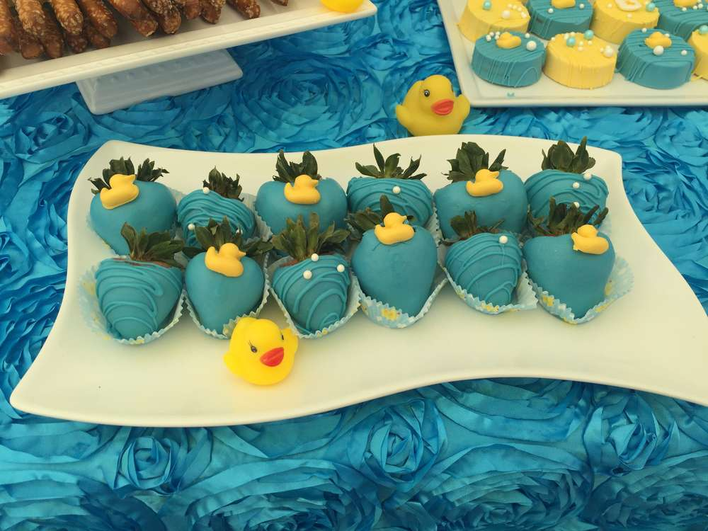 Rubber Duckies Baby Shower Party Ideas Photo 3 Of 14