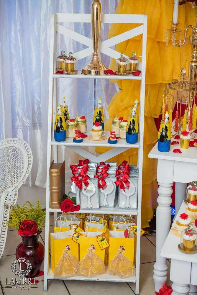 Belle Beauty And The Beast Birthday Party Ideas Photo