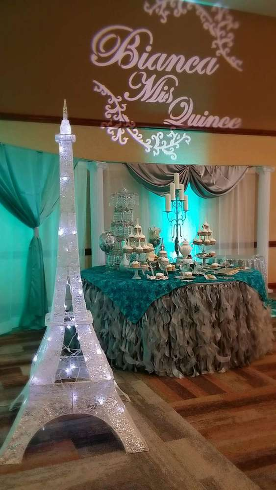 French / Parisian Quinceañera Party Ideas | Photo 11 of 15 | Catch My Party