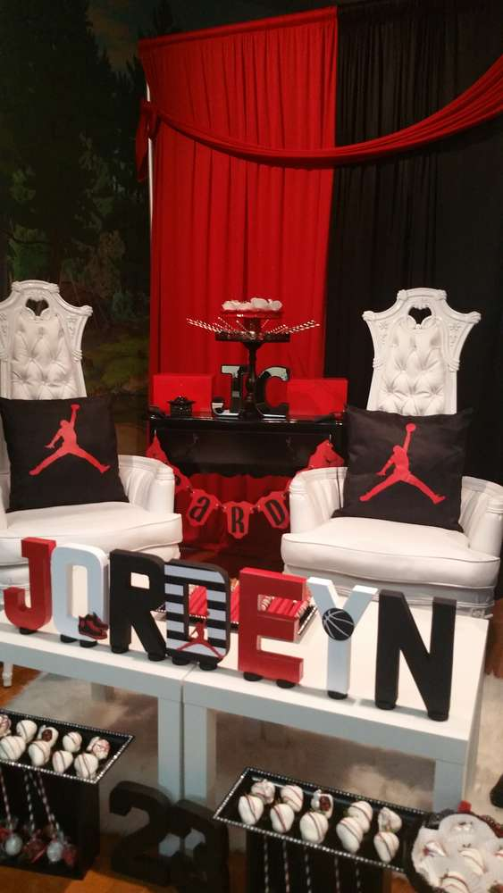 michael jordan baby shower party ideas photo 9 of 15 catch my