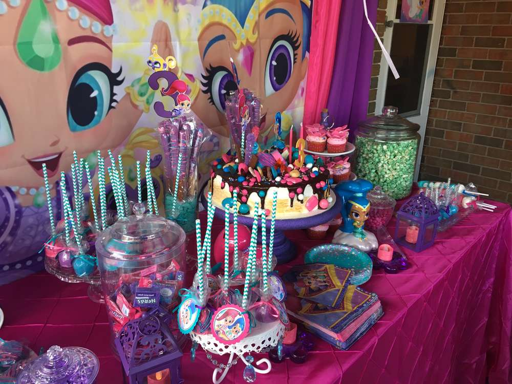Shimmer And Shine Birthday Party Ideas Photo 1 Of 20