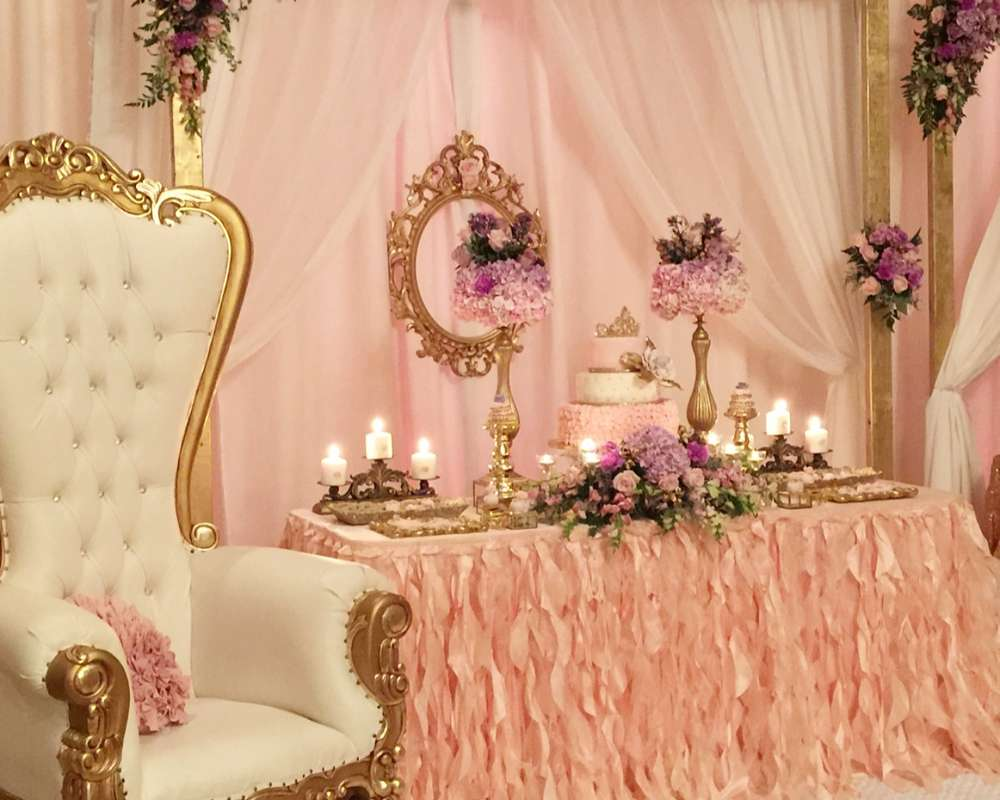 Princess garden baby shower party ideas photo 8 of 25 Elegant baby shower decorations