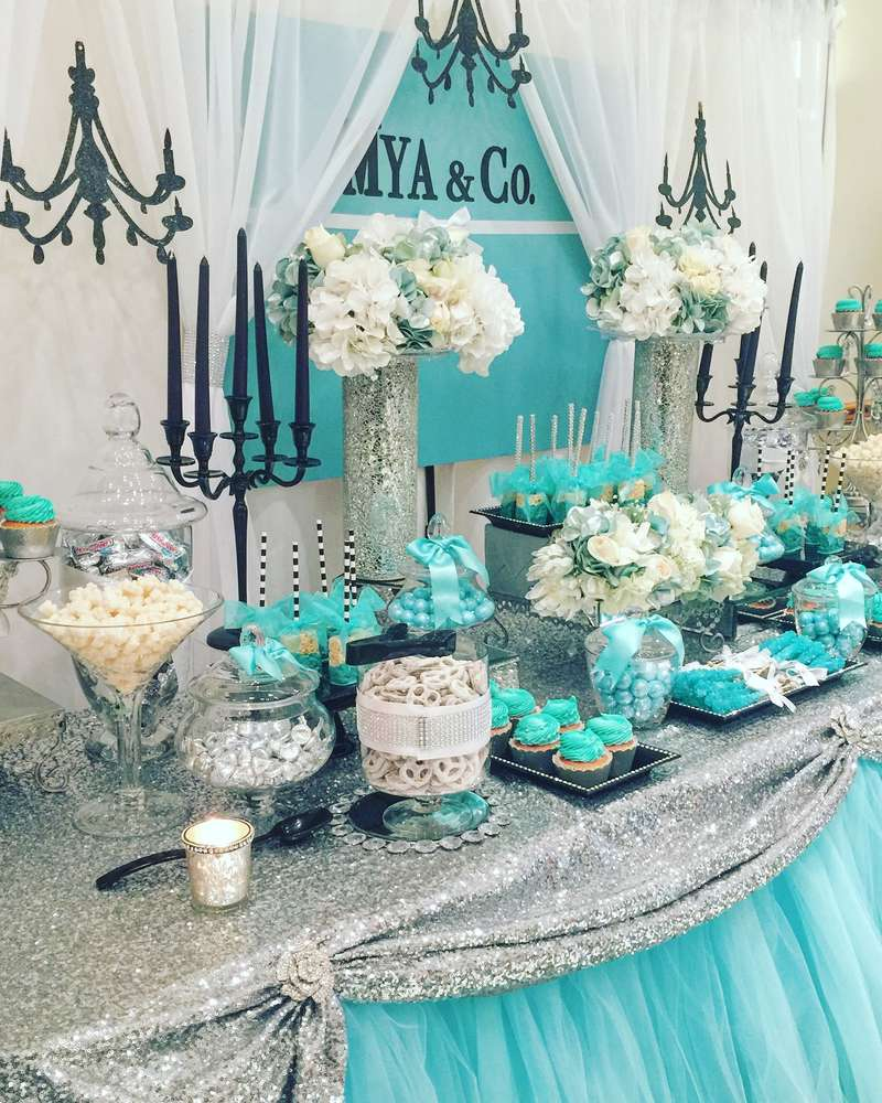Tiffany Amp Co Baby Shower Party Ideas Photo 1 Of 8