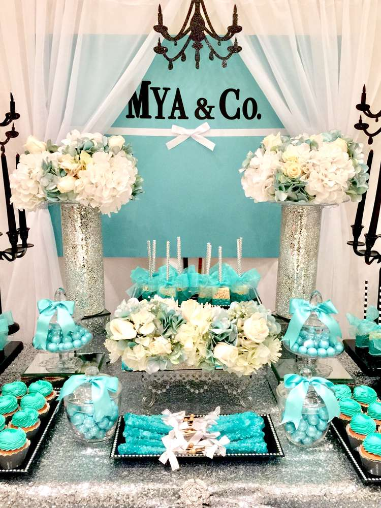 Tiffany Amp Co Baby Shower Party Ideas Photo 5 Of 8