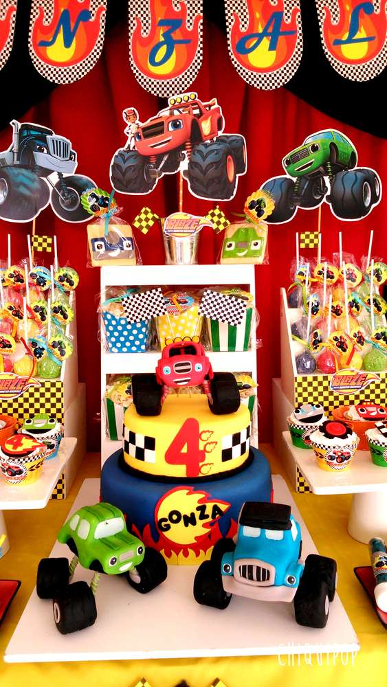 Blaze Monsters Machines Birthday Party Ideas