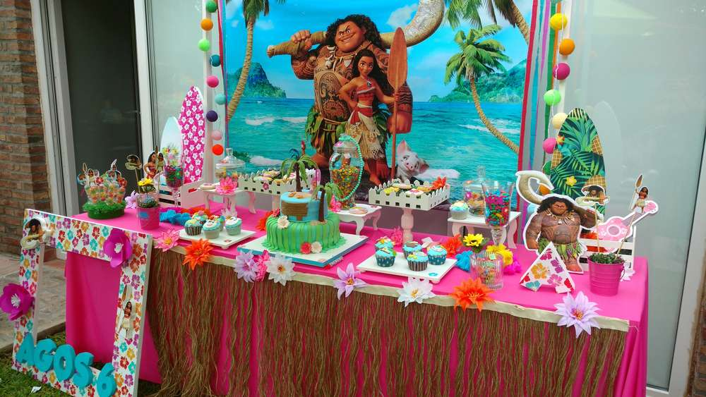Moana Birthday Party Ideas Photo 3 Of 17 Catch My Party