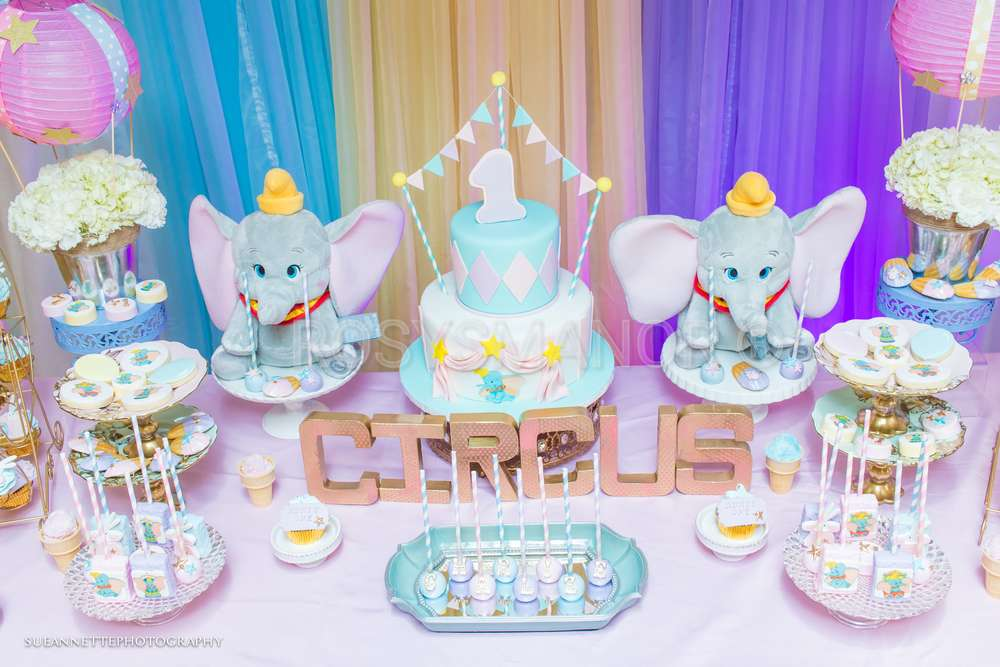 Astonishing Dumbo Circus Birthday Party Ideas Photo 3 Of 116 Catch My Party Birthday Cards Printable Trancafe Filternl