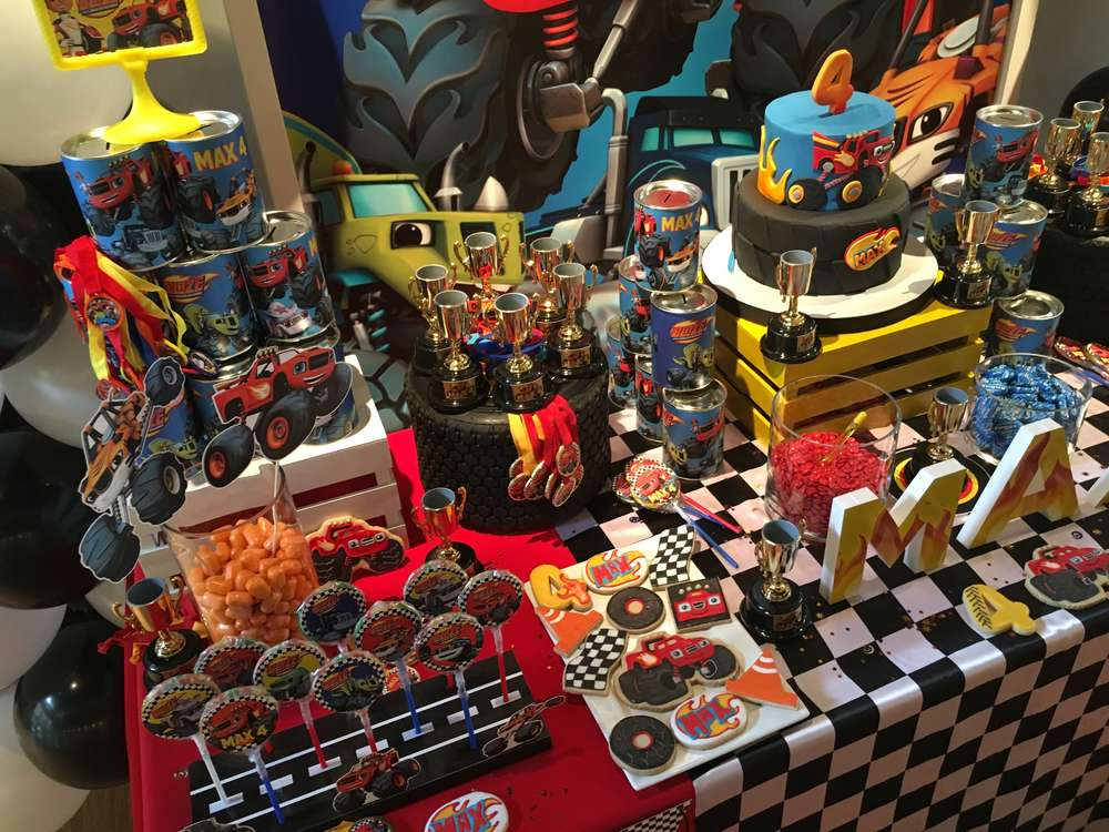 Blaze And The Monster Machine Birthday Party Ideas Photo