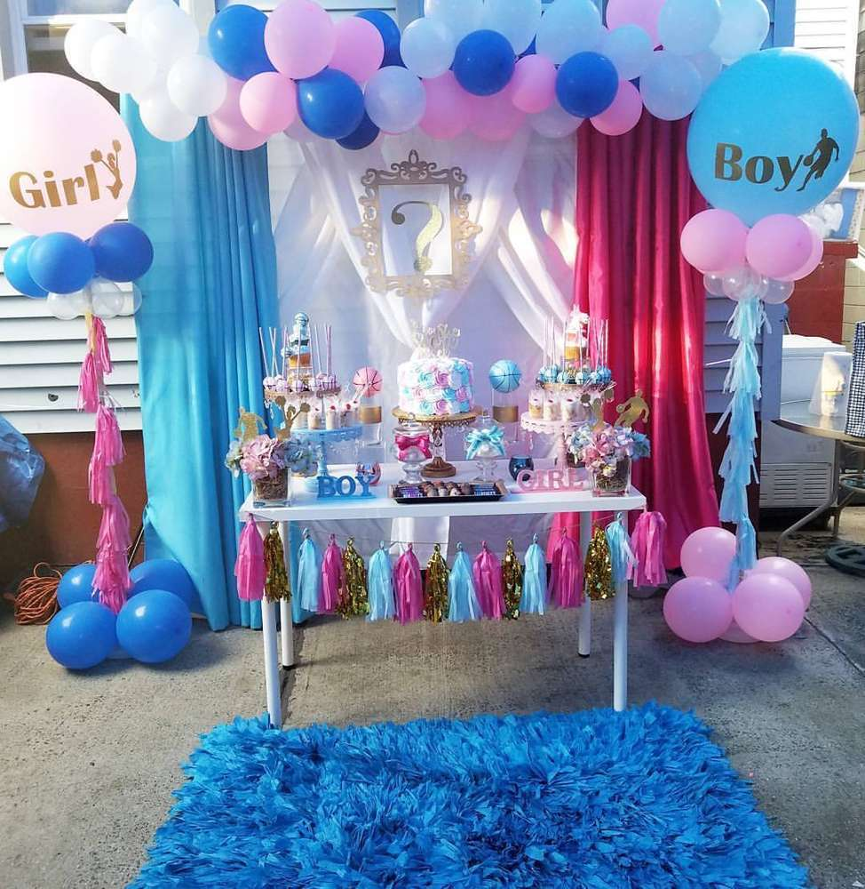 Basketball Or Cheerleader Gender Reveal Party Ideas Photo 3 Of 12