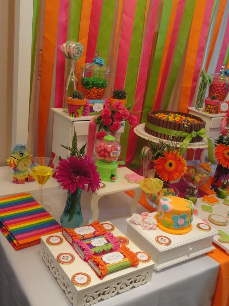 fiesta mexican birthday party ideas photo 3 of 21 catch my party