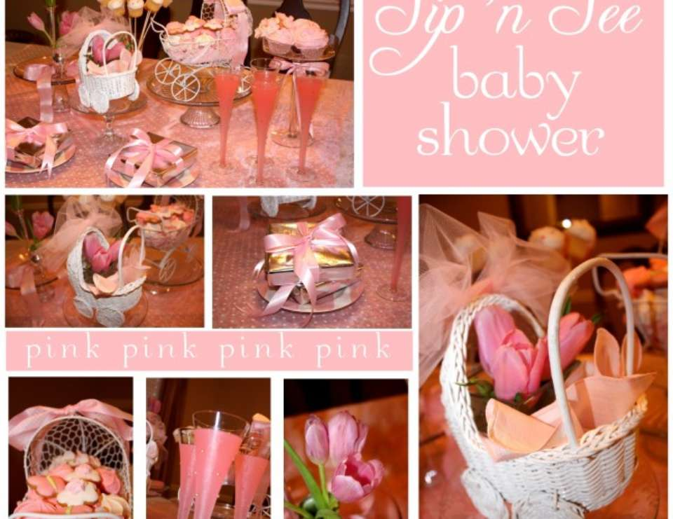 Pink Sip 'n See Shower - Princess