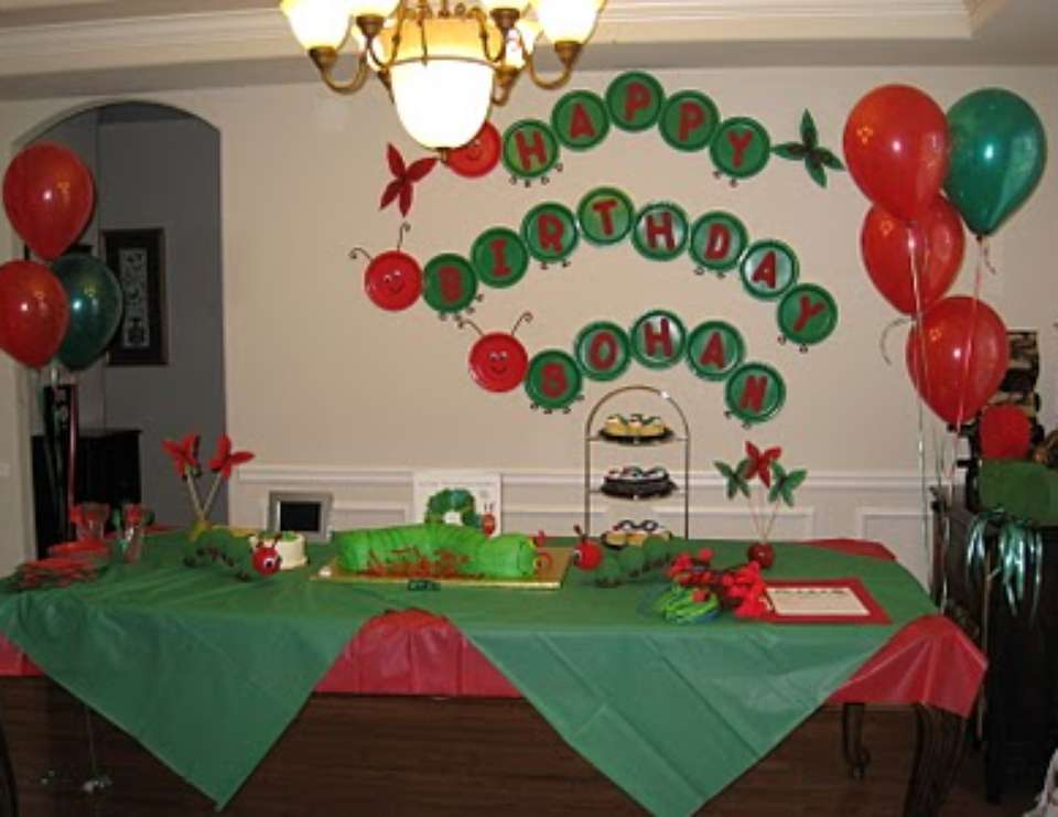 Very Special 1st Birthday - The Very Hungry Caterpillar, by Eric Carle